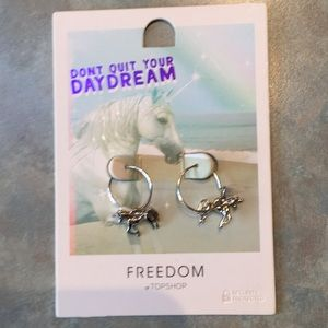 Topshop Freedom unicorn earrings
